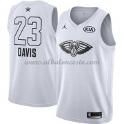 New Orleans Pelicans Anthony Davis 23# White 2018 All Star Game Swingman Basketball Jersey..