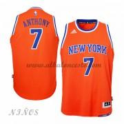 Camisetas NBA Baratas New York Knicks Niños 2015-16 Carmelo Anthony 7# Alternate..