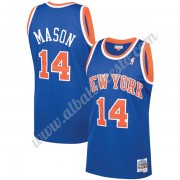 Camisetas Baloncesto NBA New York Knicks 1991-92 Anthony Mason 14# Azul Hardwood Classics Swingman..