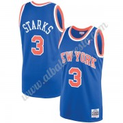 Camisetas Baloncesto NBA New York Knicks 1991-92 John Starks 3# Azul Hardwood Classics Swingman..