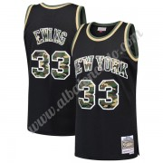 Camisetas Baloncesto NBA New York Knicks 1991-92 Patrick Ewing 33# Negro Straight Fire Camo Swingman..
