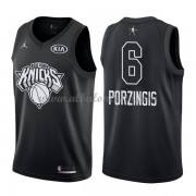 New York Knicks Kristaps Porzingis 6# Black 2018 All Star Game Swingman Basketball Jersey..