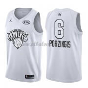 New York Knicks Kristaps Porzingis 6# White 2018 All Star Game Swingman Basketball Jersey..