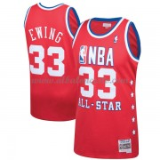 New York Knicks Patrick Ewing 33# Red 1989 All Star Hardwood Classics Swingman Basketball Jersey..