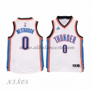 Camisetas Baloncesto Niños Oklahoma City Thunder 2015-16 Russell Westbrook 0# NBA Home..