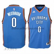 Camisetas Baloncesto Niños Oklahoma City Thunder 2015-16 Russell Westbrook 0# NBA Road..