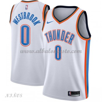 Camisetas Baloncesto Niños Oklahoma City Thunder 2018 Russell Westbrook 0# Association Edition