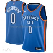 Camisetas Baloncesto Niños Oklahoma City Thunder 2018 Russell Westbrook 0# Icon Edition..