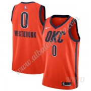 Camisetas NBA Niños Oklahoma City Thunder 2019-20 Russell Westbrook 0# naranja Earned Edition Swingm..