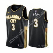 Camisetas NBA Niños Oklahoma City Thunder 2019-20 Chris Paul 3# Negro City Edition Swingman..