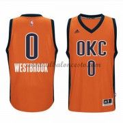 Camisetas Baloncesto NBA Oklahoma City Thunder 2015-16 Russell Westbrook 0# naranja Alternate..