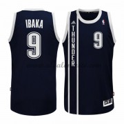 Camisetas Baloncesto NBA Oklahoma City Thunder 2015-16 Serge Ibaka 9# Azul Alternate..