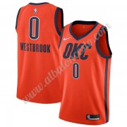 Camisetas Baloncesto NBA Oklahoma City Thunder 2019-20 Russell Westbrook 0# naranja Earned Edition S..