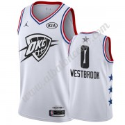Camisetas NBA Baratas Oklahoma City Thunder 2019 Russell Westbrook 0# Blanco All Star Game Swingman..
