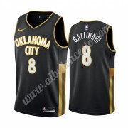 Camisetas Baloncesto NBA Oklahoma City Thunder 2019-20 Danilo Gallinari 8# Negro City Edition Swingm..