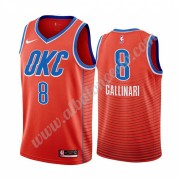 Camisetas Baloncesto NBA Oklahoma City Thunder 2019-20 Danilo Gallinari 8# naranja Statement Edition..