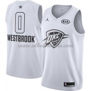 Oklahoma City Thunder Russell Westbrook 0# White 2018 All Star Game Swingman Basketball Jersey..
