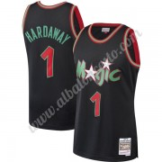 Camisetas Baloncesto NBA Orlando Magic 1993-94 Penny Hardaway 1# Negro Hardwood Classics Swingman..