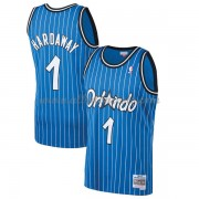 Camisetas Baloncesto NBA Orlando Magic Mens 1994-95 Penny Hardaway 1# Blue Hardwood Classics..