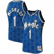 Camisetas Baloncesto NBA Orlando Magic Mens 2001-02 Tracy McGrady 1# Blue Hardwood Classics..
