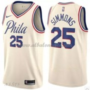 Camisetas Baloncesto Niños Philadelphia 76ers 2018 Ben Simmons 25# City Edition..