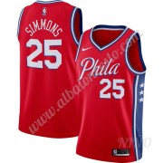 Camisetas NBA Niños Philadelphia 76ers 2019-20 Ben Simmons 25# Rojo Finished Statement Edition Swing..