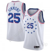 Camisetas NBA Niños Philadelphia 76ers 2019-20 Ben Simmons 25# Blanco Earned Edition Swingman..