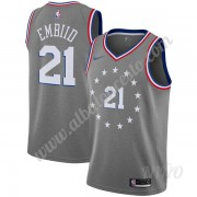 Camisetas NBA Niños Philadelphia 76ers 2019-20 Joel Embiid 21# Gris City Edition Swingman..
