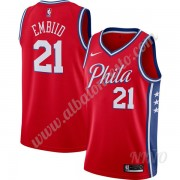 Camisetas NBA Niños Philadelphia 76ers 2019-20 Joel Embiid 21# Rojo Finished Statement Edition Swing..