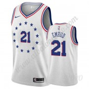 Camisetas NBA Niños Philadelphia 76ers 2019-20 Joel Embiid 21# Gris Earned Edition Swingman..