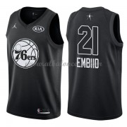 Philadelphia 76ers Joel Embiid 21# Black 2018 All Star Game Swingman Basketball Jersey..