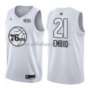 Philadelphia 76ers Joel Embiid 21# White 2018 All Star Game Swingman Basketball Jersey..