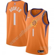 Camisetas NBA Niños Phoenix Suns 2019-20 Devin Booker 1# naranja Finished Statement Edition Swingman..