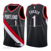 Camisetas Baloncesto Niños Portland Trail Blazers 2018 Evan Turner 1# Icon Edition..