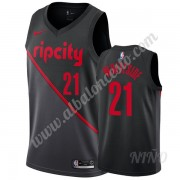 Camisetas NBA Niños Portland Trail Blazers 2019-20 Hassan Whiteside 21# Negro City Edition Swingman..