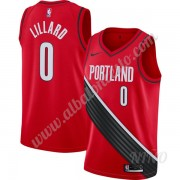 Camisetas NBA Niños Portland Trail Blazers 2019-20 Damian Lillard 0# Rojo Finished Statement Edition..