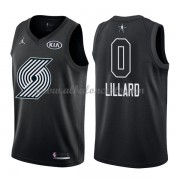 Portland Trail Blazers Damian Lillard 0# Black 2018 All Star Game Swingman Basketball Jersey..