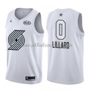 Portland Trail Blazers Damian Lillard 0# White 2018 All Star Game Swingman Basketball Jersey..