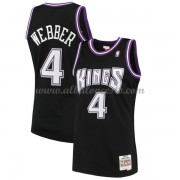 Camisetas Baloncesto NBA Sacramento Kings Mens 2000-01 Chris Webber 4# Black Hardwood Classics..