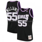 Camisetas Baloncesto NBA Sacramento Kings Mens 2000-01 Jason Williams 55# Black Hardwood Classics..