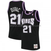 Camisetas Baloncesto NBA Sacramento Kings Mens 2000-01 Vlade Divac 21# Black Hardwood Classics..