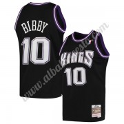 Camisetas Baloncesto NBA Sacramento Kings 2001-02 Mike Bibby 10# Negro Hardwood Classics Swingman..