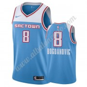 Camisetas Baloncesto NBA Sacramento Kings 2019-20 Bogdan Bogdanovic 8# Azul City Edition Swingman..