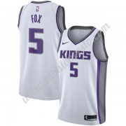 Camisetas Baloncesto NBA Sacramento Kings 2019-20 De'Aaron Fox 5# Blanco Association Edition Swingma..