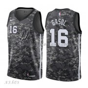 Camisetas Baloncesto Niños San Antonio Spurs 2018 Pau Gasol 16# City Edition..