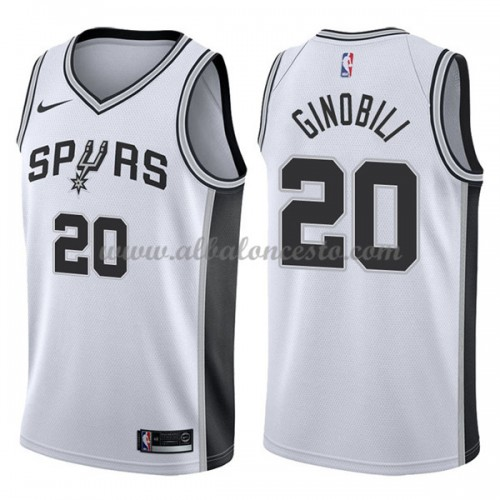 2ede8a939 Camisetas Baloncesto NBA San Antonio Spurs 2018 Manu Ginobili 20   Association Edition