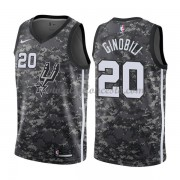 Camisetas Baloncesto NBA San Antonio Spurs 2018  Manu Ginobili 20# City Edition..
