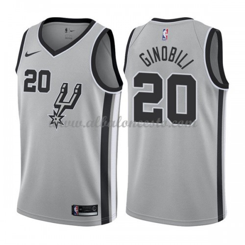 013b53908 Camisetas Baloncesto NBA San Antonio Spurs 2018 Manu Ginobili 20  Statement  Edition