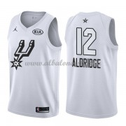 San Antonio Spurs LaMarcus Aldridge 12# White 2018 All Star Game Swingman Basketball Jersey..