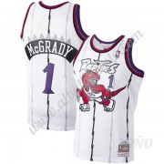 Camisetas NBA Niños Toronto Raptors 1998-99 Tracy McGrady 1# Blanco Hardwood Classics Swingman..